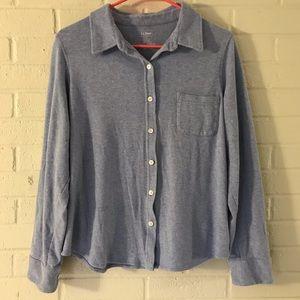 Women's L.L.Bean Long-Sleeve Button Down Shirt